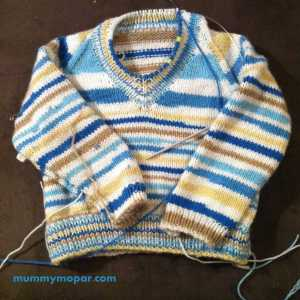 self stripe pullover